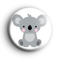 Koala Bear Button Badge