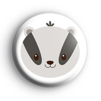 Badger Face Button Badge