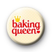 Baking Queen Button Badges