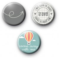 Set of 3 Holiday Badges