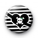 Black and White Pirate Eye Patch Badge