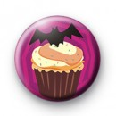 Evil Bat Cupcake Badge