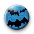 Blue Halloween Spooky Bats Badge