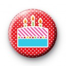 Big Birthday Cake Button Badges