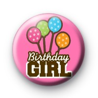 Happy Birthday Balloons Button Badges
