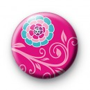Beautiful Pink Floral Badge