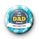Best Dad Award Button Badge