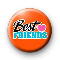 Cute Best Friends Heart Slogan Badge