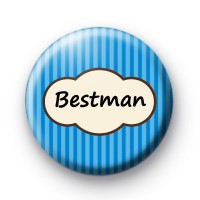 Bright Blue Stripey Bestman Badges