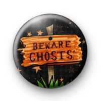 Beware Ghosts Halloween Badges