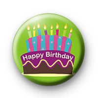Huge Birthday Cake and Candles badge