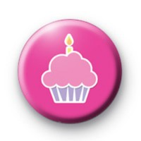 Birthday Cupcake Button Badge
