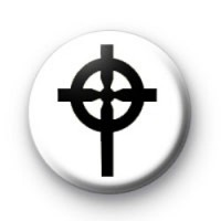 Black Gothic Cross Badges