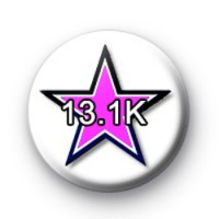Black and pink star 13.1km badge