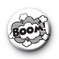 Black and White Cartoon BOOM badge