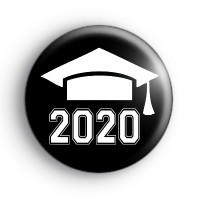 Black and White Graduate 2020 Badge