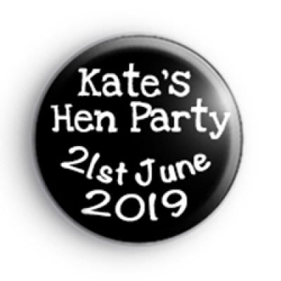 Black and White Hen Party badge