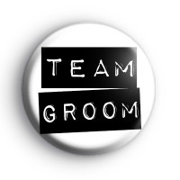Black and White Team Groom Label Badge