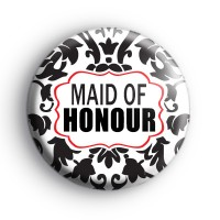 Black and Red Maid of Honour Badge thumbnail