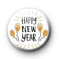 Black and Gold Happy New Year Badge