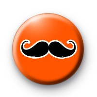 Orange and Black Moustache Badges