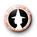Black and Orange Witch 2 badge