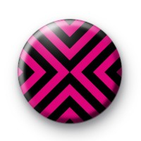 Funky Pink and Black Pattern Badges