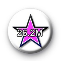 Black and pink star 26.2m custom badge