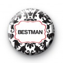 Black and Red Bestman Wedding Badges