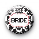 Black and Red Bride Wedding Badges