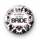 Black and Red Brother of the Bride badge