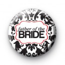 Black and Red Father of the Bride Badge