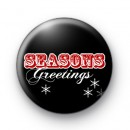 Black and Red Festive Badge