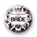 Black and Red Grandfather of the Bride badge