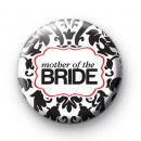 Black and Red Mother of the Bride Badges