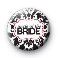 Black and Red Uncle of the Bride Badge