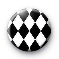 Black and White Diamond Pattern Badge
