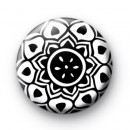 Black and White Henna Pattern 2 badge
