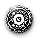 Black and White Henna Pattern badge
