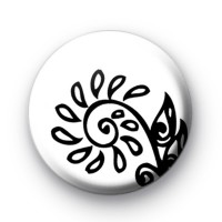 Black and White Floral Modern Badges