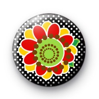 Modern Black and Yellow Button Badges