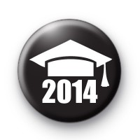 Black and White School Leaver 2014 Badge