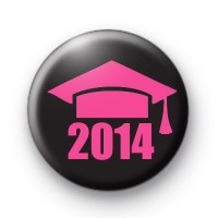 Black and Pink School Leaver 2014 Badge