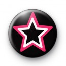 Black Pink and White Emo Star Badges