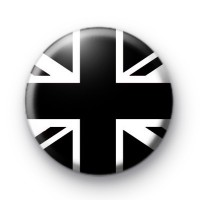 Black Union Jack Button Badges