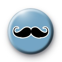 Blue Black moustache badges