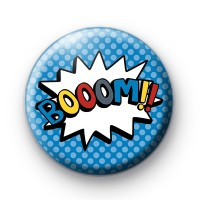 Comic Book Blue BOOM Badge