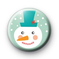 Festive Dotty Snowman Badge