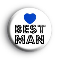 Blue Love Heart Best Man Badge thumbnail