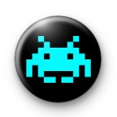 Space Invader (blue) Badge